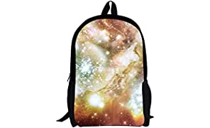 WHCREAT Unisex Printing Galaxy Polyester Student School Travel Backpack