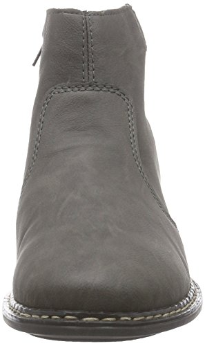Rieker - 73690, Stivali Donna Grigio (Grau (fumo/asphalt / 45))