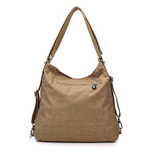 Messenger Ragazza Borse da Tasche Viaggio Bag Sport Spalla Zaino Griffate Borsa Tracolla per a Borse Outreo Impermeabile Sacchetto Donna Beige Borsetta BqCZwxBF