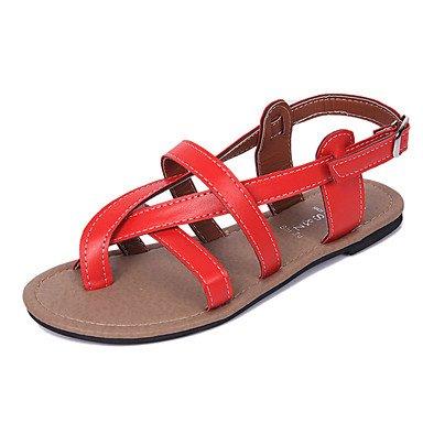 LvYuan Sandalen-Lässig-PU-Flacher Absatz-Komfort-Schwarz Rot Weiß White