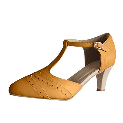 Mitlfuny Damen Sommer Sandalen Bohemian Flach Sandaletten Sommer Strand Schuhe,Damenmode Wedges Schuhe Offene Zehe Dicke Untere Römische Hausschuhe Strand ()