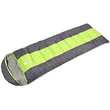 GEERTOP® Schlafsack Deckenschlafsack Warm Leichte - 220 x 75 cm / 220 x 85 cm - ( 5 to 12 ℃ ) Kragen und Kapuze mit Kordelzug mit kleinstem Packmaß, Für Outdoor Camping Wandern