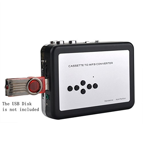CCHKFEI Portable Cassette to MP3 Converter Player,Convert Walkman Tape to MP3 Format,Tape-to-MP3 Player Through USB Flash Drive Digital Conversion with Headphone Earbuds
