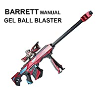 GELRIZTY BARRETT Manual Gel Ball Blaster - Manual Gel Soil Water Crystal Beads Toy Blaster - Safe and Harmless Toy Gun - Cool Emulation Shape