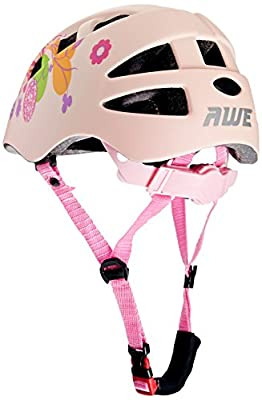 AWE® Pink CoolTM FREE 5 YEAR CRASH REPLACEMENT* In Mould Kids Girls Bicycle Helmet 48-52cm Pink by AWE®