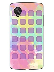 Nexus 5 Cases & Covers - Play Squares - Water Color - Abstract - Designer Printed Hard Shell Case