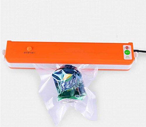 MNII Mini Food Vacuum Sealer Machine d'emballage Scellant à vide automatique Foodsaver Vacuum Sealer incluant 10Pcs Aspirateur , orange Sécurité et santé