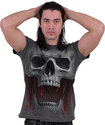 Spiral Death Roar T-Shirt Charcoal Charcoal