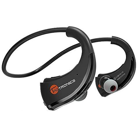 TaoTronics Bluetooth Kopfhörer 4.1 Kabellose Sport Wireless Stereo In Ear Headset Ohrhörer (Schweißabweisend, aptX, 10 Stunden Betriebsdauer, eingebautes Mikrofon, CVC 6.0