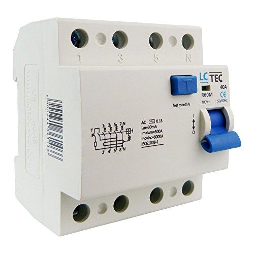 LC Fi-Schalter 40A 30mA 4-Polig Typ AC FI-Schutzschalter Fehlerstromschutzschalter R60M4P40 LC 1466
