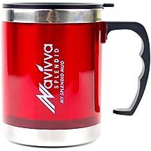 Travel Mug, Termo Taza con Tapa, Taza Roja, Taza Térmica, Insulated Mug, Insulated Travel Cup, Travel Mug with Lid and Handle, Taza con Tapa, Taza de Viaje con Tapa, 450ml di NAVIVVA SPLENDID