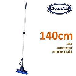 CleanAid OneTouch Easy Wischmop, Bodenwischer, Wringmop - besonders saugstark - mit PVA Schwamm und Teleskopstiel (Onetouch Easy Wischer)