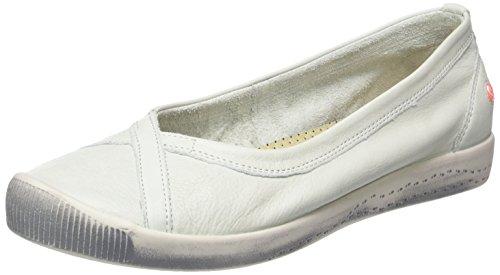 Softinos Damen Ilma Smooth Geschlossene Ballerinas Weiß (White)