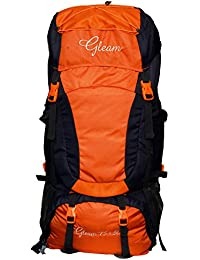 Gleam 0402 Climate Proof Mountain Rucksack , Backpack 80Ltrs Orange & Black with Rain Cover