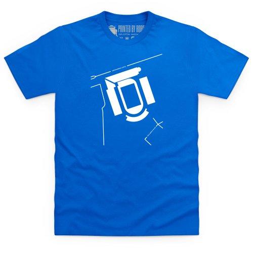 Stadion Maksimir T-Shirt, Herren Royalblau