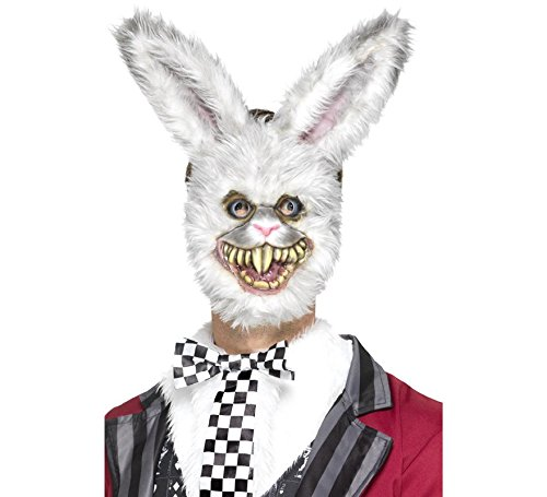 er Hase Maske mit Fell, One Size, Grau, 46995 ()