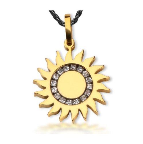 The Apollo Sun God Febo pendente della collana d'acciaio di titanio