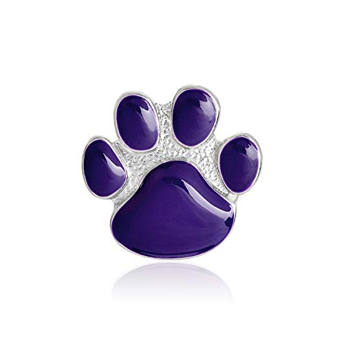 FCTHB Purple Paw Brooch Metal Enamel Dog Claw Pin Button Backpack Denim Jacket Collar Lapel Icon Badge Jewelry for Dog Owner -