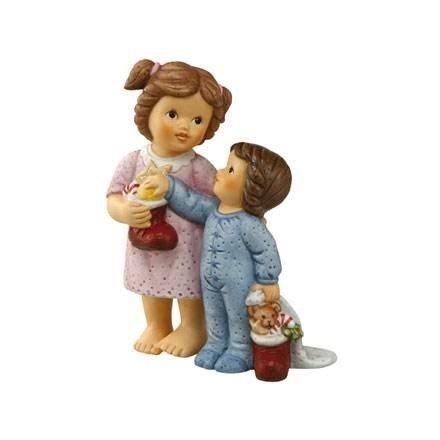 "Goebel 66875246\""Der Nikolaus war da Figur, Porzellan, bunt, 8 x 3,5 x 11 cm"