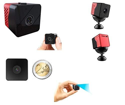 Spionage Abhörgerät Audio Video Full HD 1080p/Lange Autonomie 1Jahr Nachtsicht LED Infrarot Unsichtbar Menschlichen Auge kontinuierliche Aufnahme und motiond Detection Drehwinkel Wide 110Grad