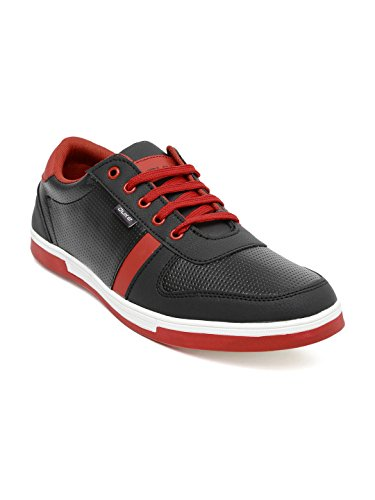 Duke Men Black Perforated Sneakers