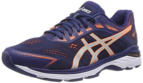 ASICS Herren Gt-2000 7 Laufschuhe, Blau (Indigo Blue/Shocking Orange 400), 46.5 EU Gt Herren Schuhe