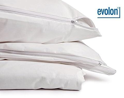 PROCAVE Encasing Kissenbezug für Hausstaub-Milben-Allergiker | Evolon | schadstoffgeprüfter Milbenschutz | atmungsaktiv und feuchtigkeitsdurchlässig | 50x60 cm