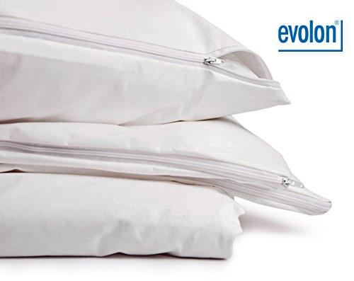 PROCAVE Encasing Kissenbezug für Hausstaub-Milben-Allergiker   Evolon   schadstoffgeprüfter Milbenschutz   atmungsaktiv und feuchtigkeitsdurchlässig   65x65 cm