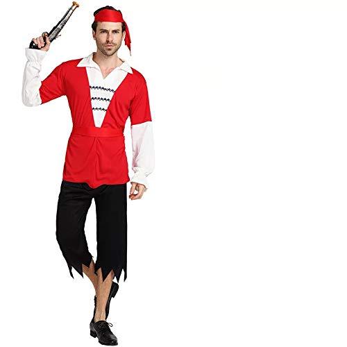 Männer Kostüm Piraten Realistische - thematys Piratenkostüm Pirat Kostüm-Set für Herren - perfekt für Fasching, Karneval & Cosplay - Einheitsgröße 160-180cm