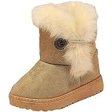 Tefamore zapatos niña de antideslizante de sole suave de moda invierno de calentar para chicas