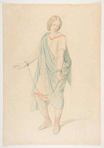 Moritz von Schwind - The soprano Karoline Hetzenecker in the role of Sesto in La Clemenza di Tito by W.A. Mozart Kunstdruck (45,72 x 60,96 cm)