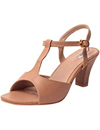 Feel It Comfortable Leatherite Casual/Formal/Partywear Block Heel Sandals for Women's & Girl's - (2302-P)