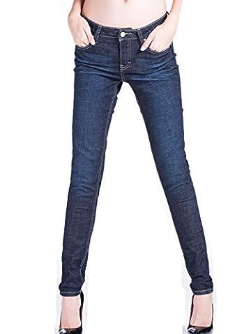 Alice & Elmer Denim Jeans Stretch Taille Haute Slim Skinny,Jeans Femme,Bleu Foncé 31