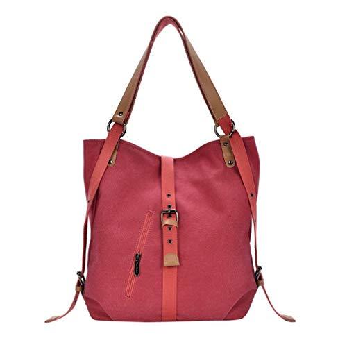 Nvfshreu Damen Ledertasche Kleine Umhängetaschen Handtaschen Damenhandtaschen Frauen Leinwand Totes Vintage Einfacher Stil Hohe Qualität Weibliche Hobos Schultertaschen Rucksack, -