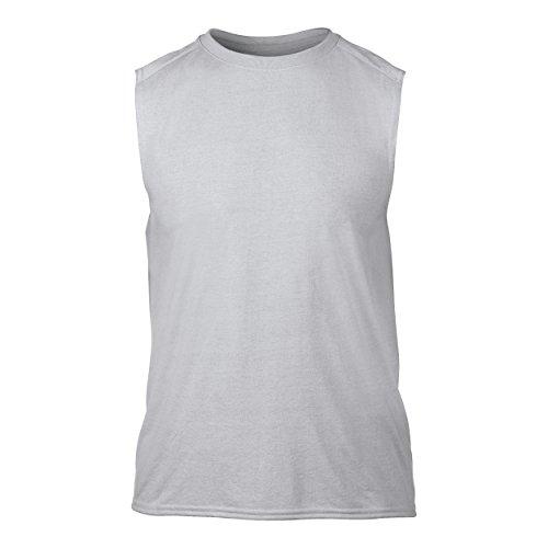 Gildan Herren Performance T-Shirt, ärmellos Weiß