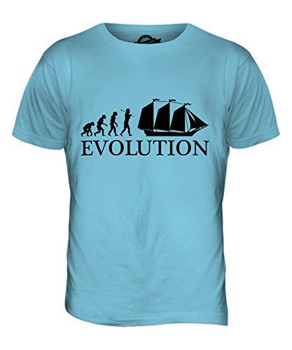 CandyMix Schoner Evolution Des Menschen Herren T Shirt Himmelblau