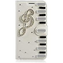 LG L Fino Funda, LG D295 Funda, Lifeturt [ Nota musical ] Cubierta de la caja de cuero superior de la carpeta del libro para LG L Fino/D295