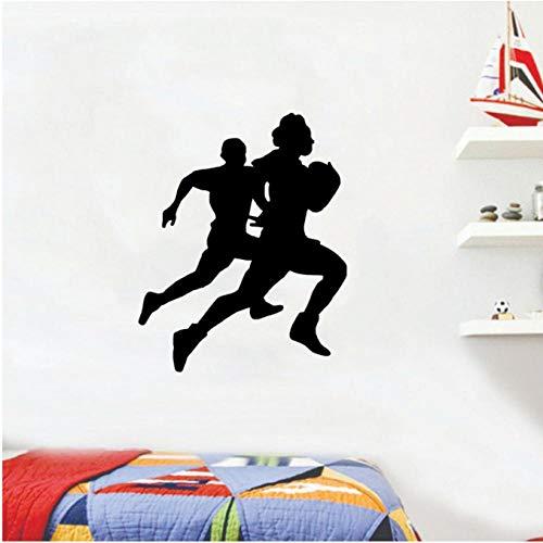Wandsticker Wandtattoo 48 Cm * 61 Cm Mode Wandaufkleber Fußball Rugby Sport Wohnzimmer Das Schlafzimmer Pvc Personalisierte - 128 Rugby