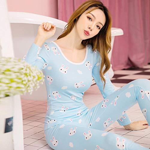 WOOAI 2018 Robe sexy Pyjamas für Frauen Nachtwäsche Nachtwäsche Plus Größenwinter Polyester Kostüm Spitze Nighties weibliche Pijamas gesetzt, QMS6007, L (Mickey Maus Pyjama Kostüm)