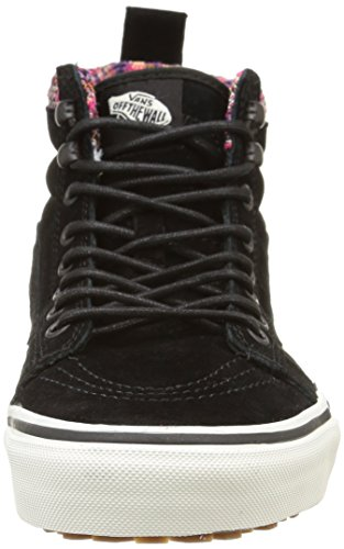 Vans Sk8-Hi, Baskets Basses Mixte Adulte Noir (Mte/Black/Woven Chevron)
