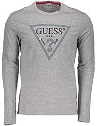 Amazon.fr   Guess - T-shirts à manches longues   T-shirts, polos et ... d69bbe60b71