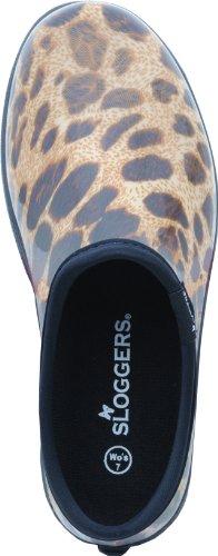 Sloggers chaussons mules de jardin pour femmes Leopardenprint