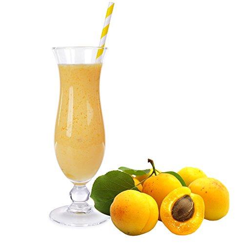 Aprikose Geschmack Eiweißpulver Milch Proteinpulver Whey Protein Eiweiß L-Carnitin angereichert Eiweißkonzentrat für Proteinshakes Eiweißshakes Aspartamfrei (200 g)