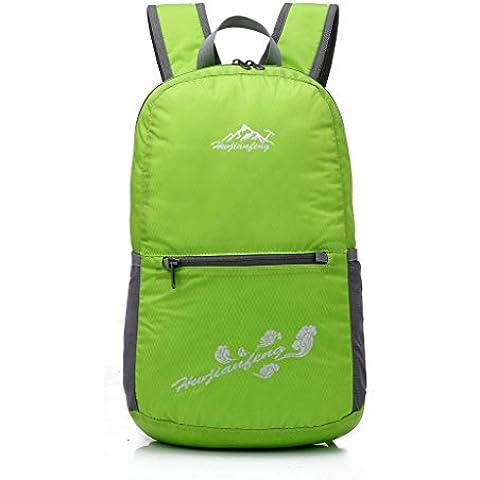 Punta de pincel Ultra ligero Packable mochila senderismo Daypack, pequeña mochila práctico plegable Camping al aire libre mochila bolsa de poco
