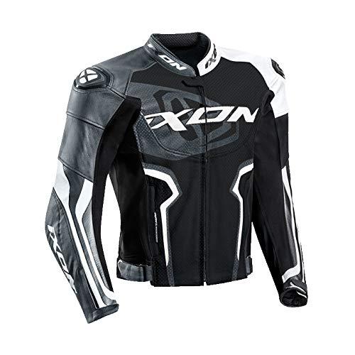Ixon FALCON Jkt 1002010411020Giubbotto Moto, Nero Bianco Grigio, L