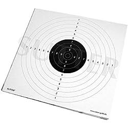SUTTER® Pack de 20 cibles (Blanche) avec des Fentes d'insertion - 55x53cm