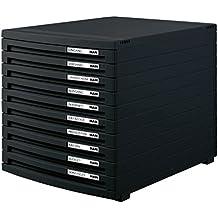 HAN Schubladenbox CONTUR 1510-13 in Schwarz/Modernes, erweiterbares Organisationssystem/Mit 10 geschlossenen Schubladen