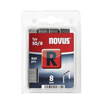 Novus 042-0466 Blister de 960 Agrafes plates 50/8 mm Rouge