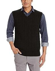 Nautica Mens Cotton Sweater (8907259534039_NTS53101R0TB_Medium_True Black)