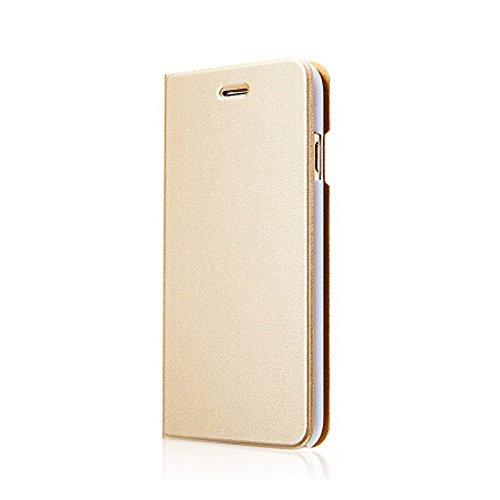"""fenrad® Oro Custodia in Pelle Protettiva Case Stand Cover per Apple iPhone 6 4.7"""" 2014 PU Wallet Flip Portafoglio Borsa Pouch Shell --Gold"""